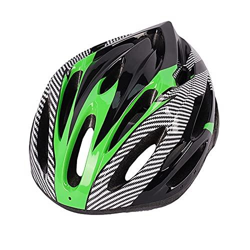 G&F Casco Bicicleta para Adultos, Carretera Montaña Casco Ciclismo con Visera Desmontable para Hombres Mujeres (Color : Green, Size : 54-62)