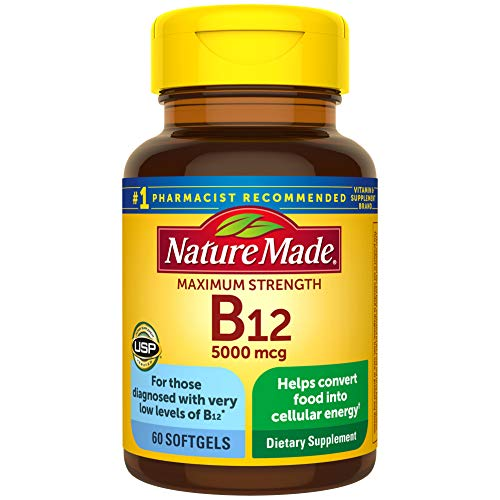 Nature Made Max Strength: Vitamin B12 5000 mcg Softgels 60 Count