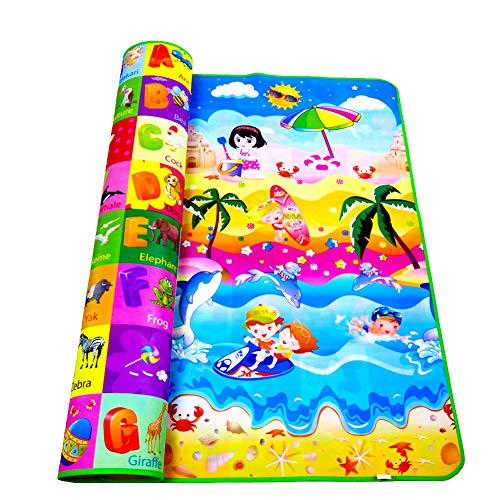 Amyove Baby-Krabbeldecke Playmat Babyspielmatte Spielzeug Für Kindermatte Teppich Gummi Eva Schaum Spielen 4 Puzzles Schaum Teppiche Dropshipping Baum 2 Meter * 1,8 Meter dick 0,3 cm