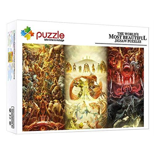 ZTCLXJ 1000 Piezas Jigsaw De Madera Ppara Niños Y Adultos 1000 Piezas Puzzles Progresivos Mitología Europea Regalo De Cumpleaños para Ocio Y Entretenimiento 30 X 20 Pulgada