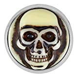 Ginger Snaps CARVED SKULL SNAP SN04-14 Interchangeable Jewelry Snap Accessory