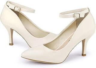 Allegra K Women's Pointed Toe Stiletto High Heels Ankle Strap Pumps