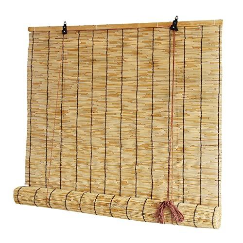 SANJIANG Bambus Roll Up Shade Reed Rollo Vorhang Sonnenschirm/Eco/Wasserdicht Für Drinnen Draußen Küche Patio Mit Lifter,1x2m