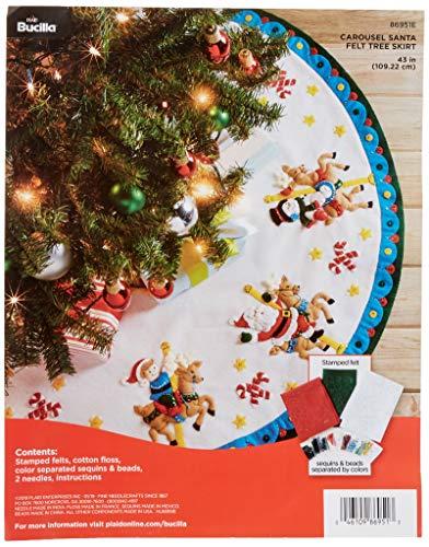 Bucilla Carousel Santa Felt Applique Kit