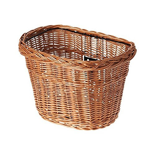 Basil fietsmand Boston Wicker, naturel gelakt, 34 x 25 x 27 cm, 13005