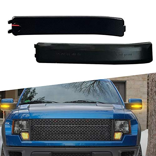 LED Side Mirror Lights XTAUTO Amber Yellow LED Sequential Switchback Side Mirror...