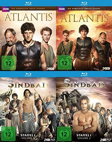 BBC Fantasy Serien Paket - Atlantis Staffel 1 & 2 + Sindbad Staffel 1 + Bonus (2 DVDs)+[Blu-ray]