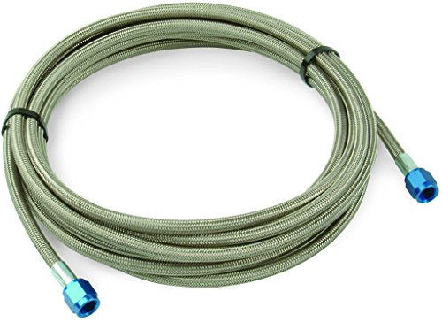 Design Engineering 080205 CryO2 Stainless Steel Braided Hose, 4AN Female x 1/8 NPT Male, 3'