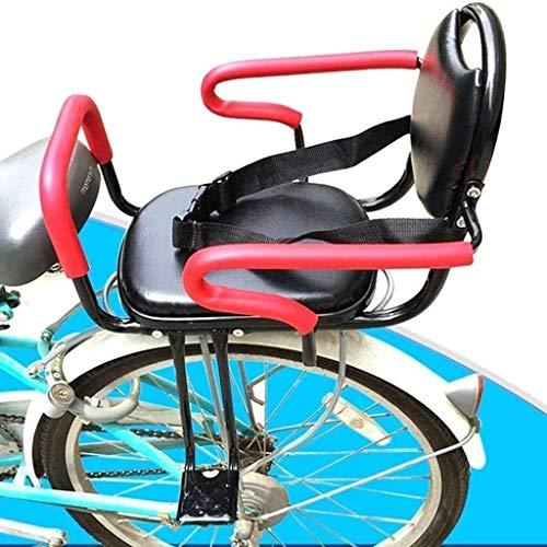 LYATW Asiento Bicicleta Niño Fácil de instalar el asiento de seguridad de la bicicleta de los niños de metal for niños, bicicletas asientos infantiles con apoyabrazos y Pedal, asientos de bicicleta Ca