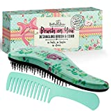 Detangling Hair Brush and Comb Set, the Best Detangler Brush for Wet or Dry Hair, no more tangles, no more tears by Bella & Bear .