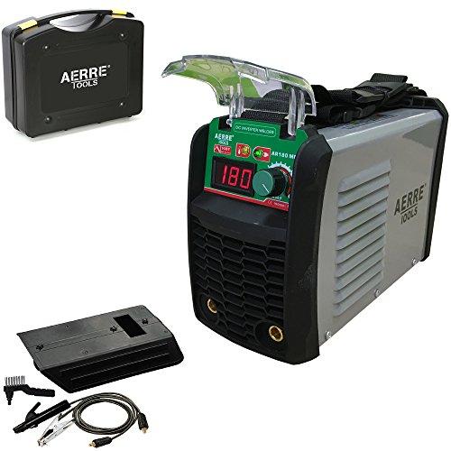 Soldadora inverter de electrodo Aerre 180A MMA TIG con kit de accesorios y maleta