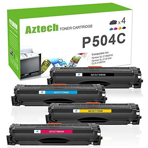 Aztech Kompatibel Toner Cartridge Replacement für Samsung CLT-K504S CLT-P504C CLT-C504S CLT-M504S CLT-Y504S Toner für Samsung Xpress C1860FW C1810W Toner Samsung CLX-4195FN CLX-4195FW CLP-415N 415NW