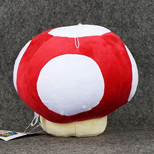 adfw Super Mario Toad Mushroom Red Stuffed Plush Toys Adornos Suaves Regalos De Cumpleaños Muñecas con Etiquetas para Niños 30Cm