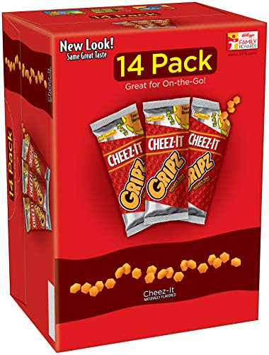 CheezIt Gripz Baked Snack Crackers 14-0.9 oz. Bags, 4 Count