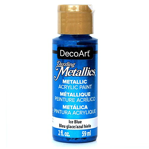 DecoArt Dazzling Metallics 2-Ounce Ice Blue Acrylic Paint