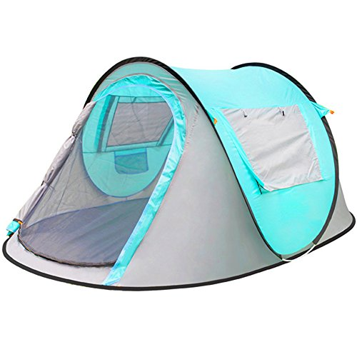 Find Bargain Kids Play Tunnels Mountaineering Tent 3-4 Automatic Field Camping Double Tent Windproof...