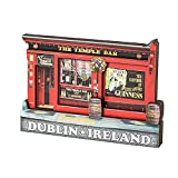 Wooden Magnet Dimensions: 9 X 7.5 Cm Iconic Temple Bar Design Perfect Irish Gift
