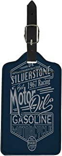 Pinbeam Luggage Tag Vintage Motor Racing Siverstone Gasoline Graphics Motorcycle Car Suitcase Baggage Label