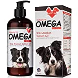 Wild Alaskan Salmon Oil for Dogs & Cats 16oz – for Soft Shiny Coats, Dry Skin, Itching, Shedding & Allergies - Boosts Immune & Heart - Pure Natural Omega 3 Fish Oil for Dogs & Pets Liquid Supplement…