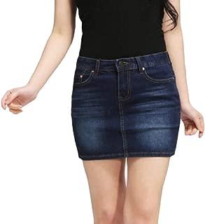 Mogogo Women's Bodycon Basic Stretchy Casual Plain Fashionable Skirt