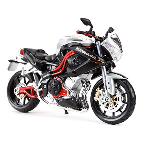 hclshops Motocicleta Modelo de Juguete TNT Superficie de la Carretera Locomotora Simulación Aleación Motocicleta Modelo Colección Regalo