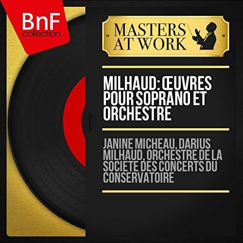 Janine Micheau, Darius Milhaud, Orchestre de la Société des concerts du Conservatoire