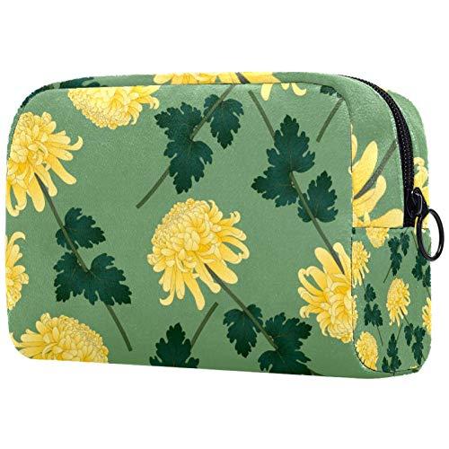 KAMEARI Bolso cosmético flor amarillo grande bolso cosmético organizador multifuncional bolsas de viaje