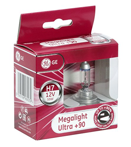 GE General Electric H7 12V 55W Halogen Megalight Ultra +90% 2er Set 58520SXU