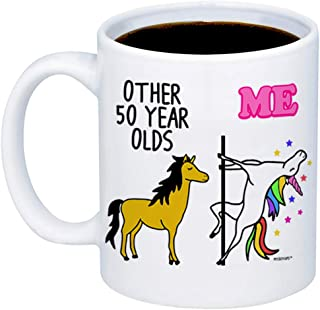 MyCozyCups 50th Birthday Gift - Other 50 Year Olds Me Unicorn Coffee Mug - Funny 11oz Cup For Grandma, Mom, Sister, Best Friend, Women, Her - Happy Fiftieth Birthday Gift - Born In 1969, 1968, 1970
