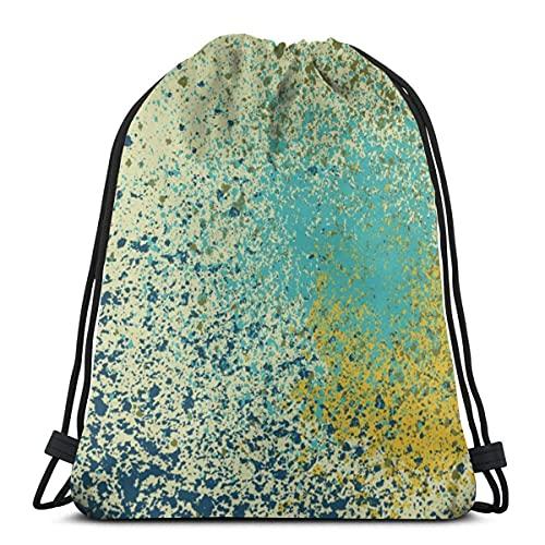 Lmtt Bolsas con cordón Mochila de pintura en aerosol Bolsas de cuerda de tracción a granel Almacenamiento deportivo Gimnasio para niñas Mochila de viaje al aire libre como imagen
