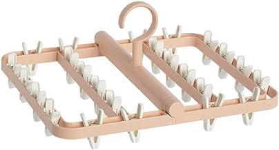 24 Clips Folding Wasdroger Hanger Kinderen Volwassenen wasdroger winddicht Sokken Ondergoed Plastic Droogrek zcaqtajro