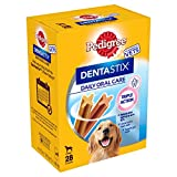 Pedigree Dentastix - Daily Dental Care Chews, Large Dog Treats from 25 kg+, 4 Boxes (4 x 1.08 kg/Total of 112 Sticks)