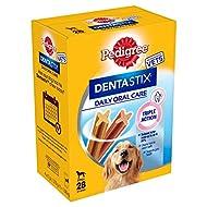 Pedigree Dentastix - Daily Dental Care Chews, Large Dog Treats from 25 kg+, 4 Boxes - 112 Sticks