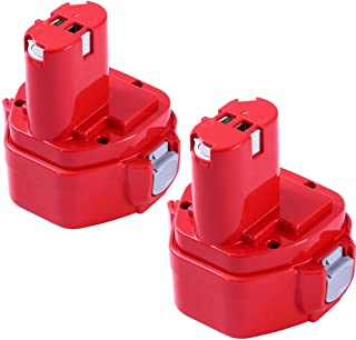 Upgraded 3600mAh Replacement for Makita 12V Battery Ni-MH 1200 1220 1201 1222 1233 1234 1235 192681-5 Cordless Power Tools 2 Pack