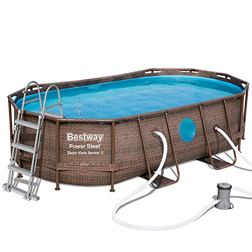 BESTWAY 56714 - Piscina Desmontable Tubular Power Steel 427x