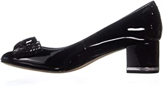 Womens Paris Leather Round Toe Mary Jane Pumps