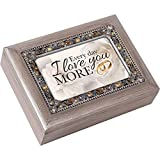 Every Day I Love You More Pewter Jewel Beaded Music Box Plays You Light Up My Life