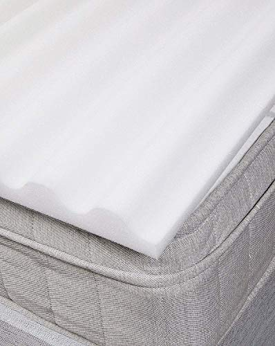 Bedding Direct UK Foam Zoned Ridge Mattress Topper in Single - Slight Second