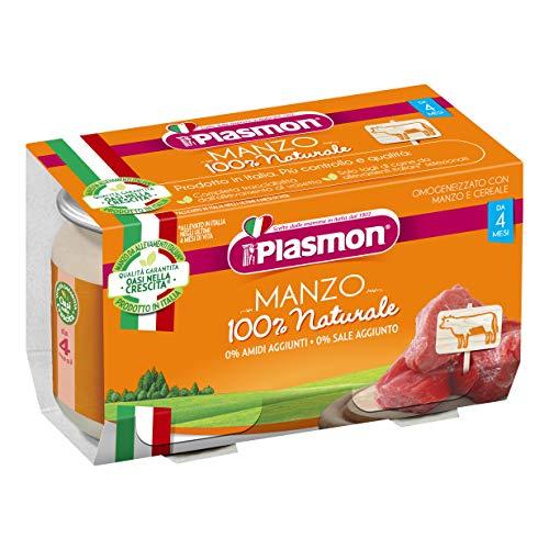 12x PLASMON Rindfleisch homogenisiert Babynahrung (12x80g) ab 4 Monaten 960gr