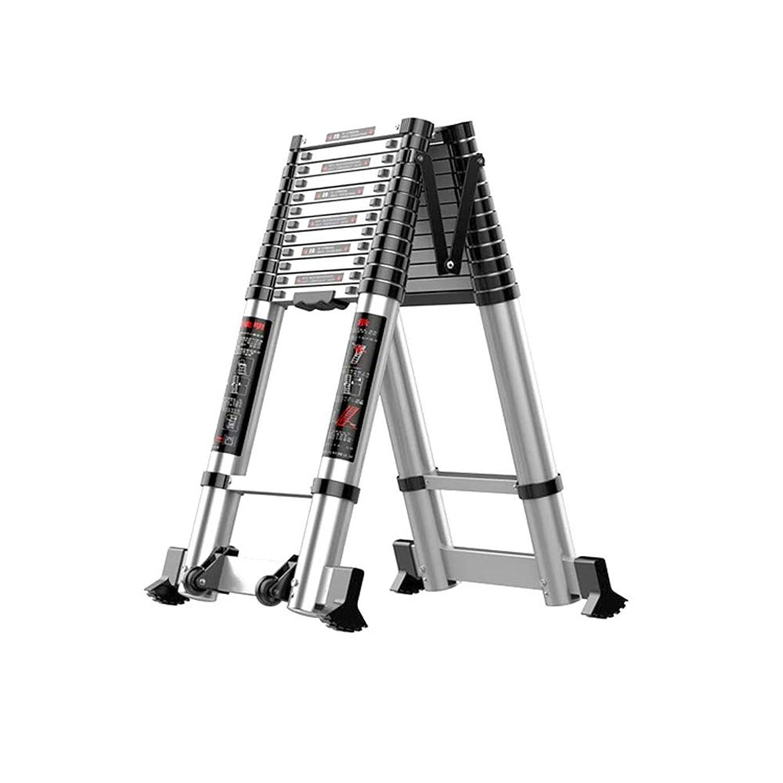 検体依存娘ポータブル伸縮ラダー アルミ伸縮ロフト拡張ラダーはホームのためのポータブルラダー折り畳み式のはしごを拡張します 拡張ラダー (色 : A, サイズ : 3.5M)