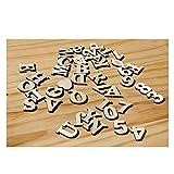 77 Stücke Holz Buchstaben Holz Kleinbuchstaben Hölzerne Zahlen für Kunst Handwerk DIY Dekoration...