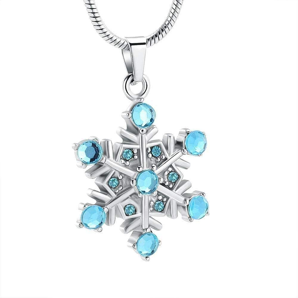Ashes Chain Cremation Memorial Ashes Chain Dog Urns Cremated Ashes Jewelry Necklace cremated Ashes Jewelry Gift Snowflake Pendant