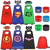 Jojoin 6 Pcs Capas de Superhéroe para Niños, Disfraces de Superhéroe para Niños, Kit d...