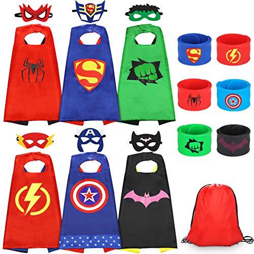 Jojoin 6 Pcs Capas de Superhéroe para Niños, Disfraces de...