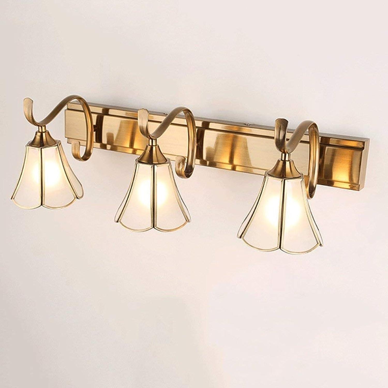 - Bath Mirror Lamps Copper Bathroom Mirror Front Lights Cabinet Lights Bathroom Lighting (Size   58cm) (color   58cm, Size   -)