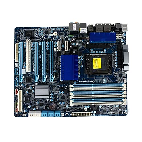 lilili Placa Base para computadora, Placa Base Fit for Gigabyte GA-X58A-UD3R 1366 Pin X58, Soporte para Placas Base de Escritorio L5639 L5520