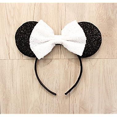 Wedding Minnie Ears, Minnie Ears, Mickey Ears, Disney Ears, Custom Mickey Ears, Disneyland Ears, Minnie Mouse Ears, Ears, Wedding Mickey Ear