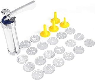kit pistola a pressione per fare biscotti per biscotti fai da te Pressa manuale Pressa manuale multifunzionale per biscotti manico in plastica e disco per biscotti asta in acciaio inox ABS
