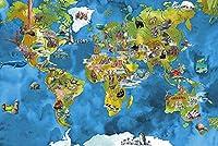 1000ピースのパズル、世界地図、子供のおもちゃ教育玩具男の子女の子大人の贈り物誕生日クリスマスの贈り物贈り物puzzle (50×75 CM)