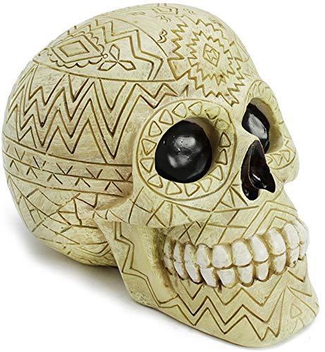 com-four Caja de Dinero, Calavera con Adornos místicos para los Amantes de Goth, 12 x 11 cm, diseño 4 (Cráneo n ° 4)